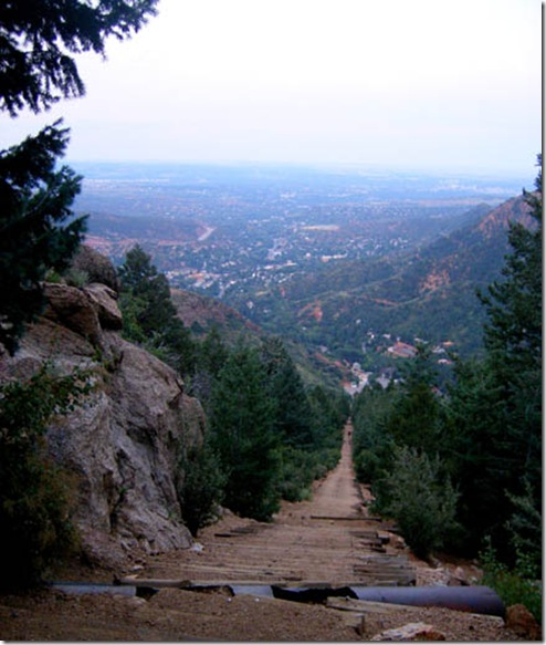 manitou incline looking down