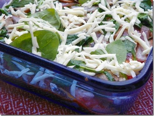 Spinach Mushroom Rosemary Lasagna