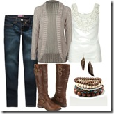 Polyvore casual boots