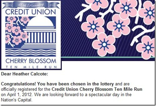Credit Union Cherry Blossom Congrats E-mail