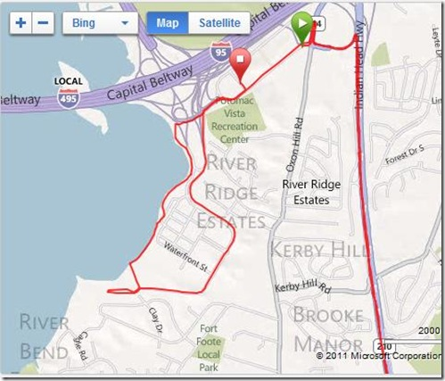 Hot Chocolate 15K Map