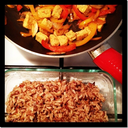Rice and veggies Instagram