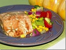 Salmon and Edamame salad
