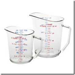 wet measuring cups