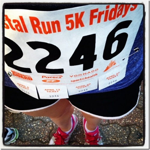Crystal City Friday night 5K bib