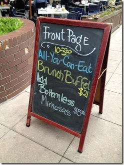 Front Page brunch