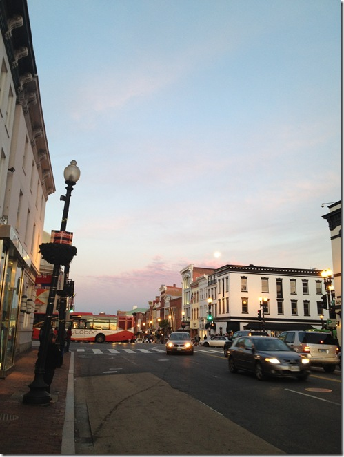sunset in georgetown