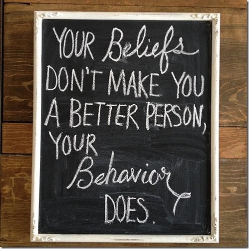 beliefs & behaviors