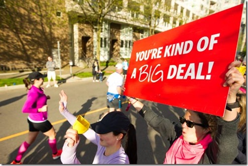 lululemon run cheer sign Big Deal