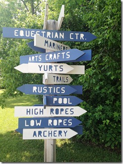 Camp Letts direction signs