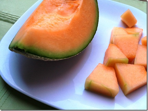 Cantaloupe slice 1