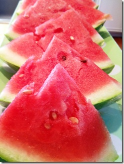 fresh watermelon slices