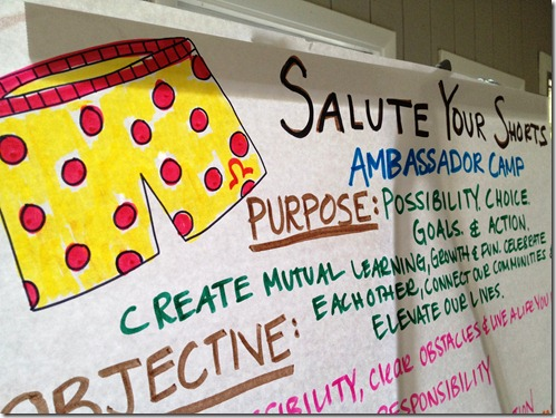 lululemon ambassador Salute your Shorts retreat sign