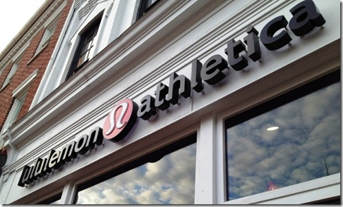 lululemon georgetown sign
