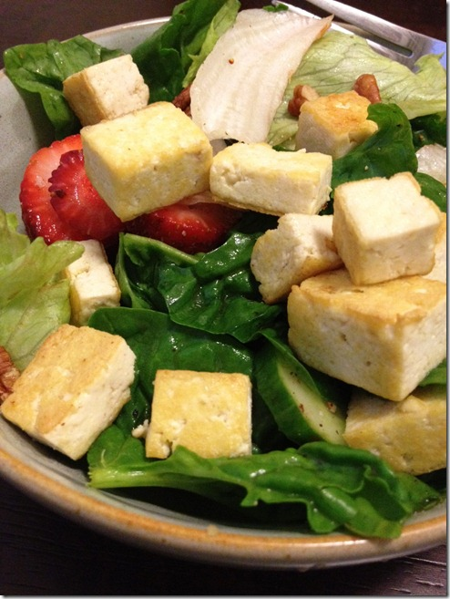 Strawberry tofu salad