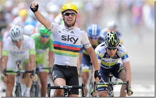 Cavendish World Champion TDF Stage win 2012