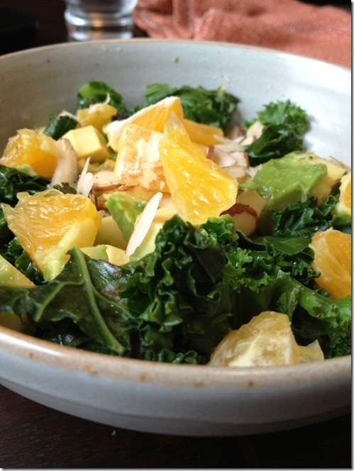 kale & orange almond salad