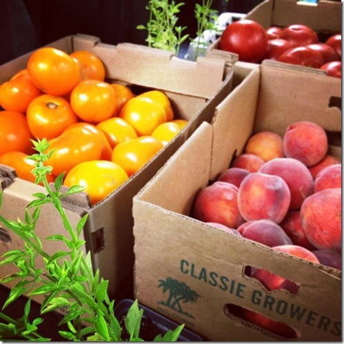 Peaches and tomatoes CSA