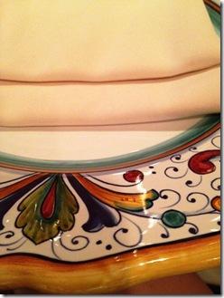 Restaurant Eve plates