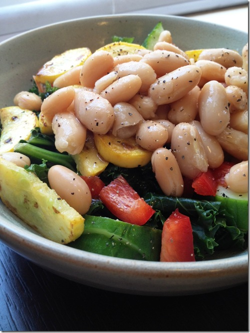 white bean and veggie salad
