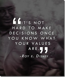 decisions and values Disney