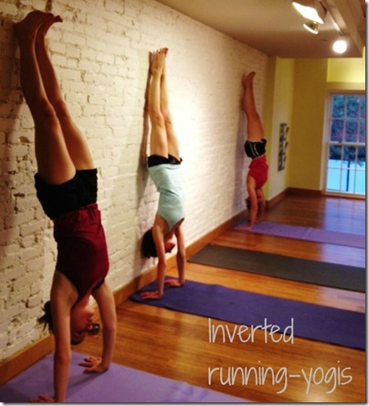 inverted running yogis