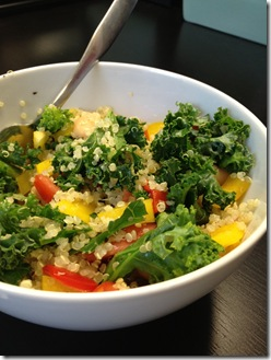 kale quinoa & peppers