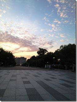 sunrise Lafayette park DC 1