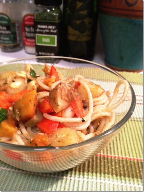 basil cashew pasta salad 2