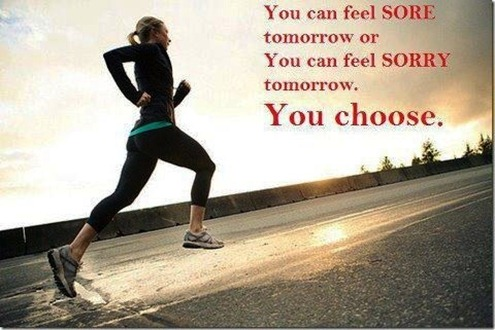 Choose to be sore