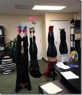 Office headstands