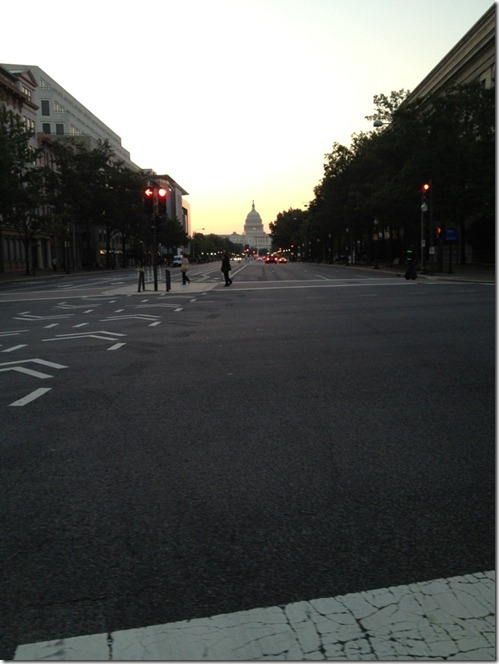 sunrise Pennsylvania avenue Capitol