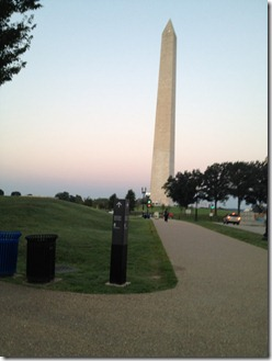 sunrise washington monument side 2