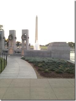 sunrise WWII memorial