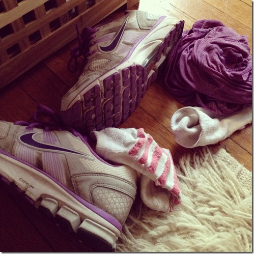 Sweaty run gear