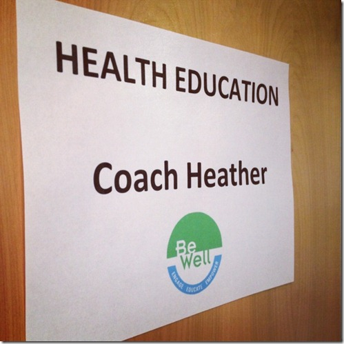 Coach heather sign