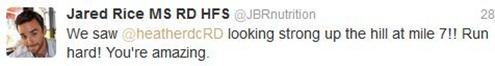 Mile 7 JBR tweet