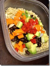 mixed veggie   rice lunch