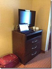 standing hotel desk