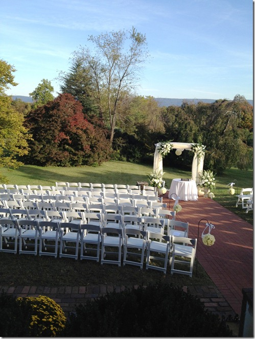 wedding ceremony set-up 3