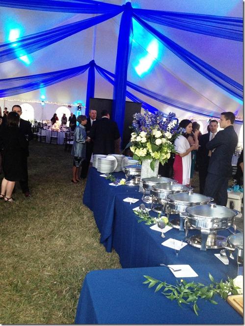 wedding dinner tent
