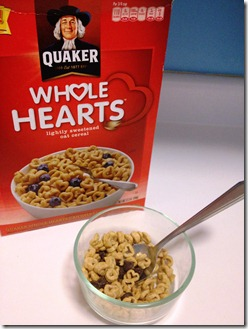 Whole hearts cereal