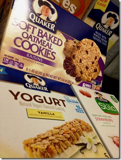 yogurt bars & cookies