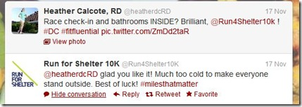Run for Shelter tweet